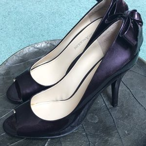 Enzo Angiolini Purple Patent Peep Toe Pumps